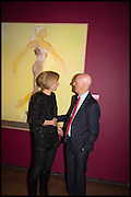 DARCEY BUSSELL; ALLEN JONES, Allen Jones private view. Royal Academy,  London. 11 November  2014.