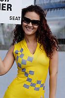 2008 British Touring Car Championship.Thruxton Circuit, Hampshire, United Kingdom.  17th-18th May 2008..SEAT Sport UK Grid Girl.World Copyright: Peter Taylor/PSP