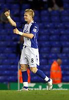 Photo: Mark Stephenson.<br /> Birmingham City v Hereford United. Carling Cup. 28/08/2007.Birmingham's Garry  O'conner celebrates his goal for 1-0