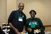 Alumni at the Black Alumni Reunion Welcome Reception at Baker Center on September 27, 2013.
