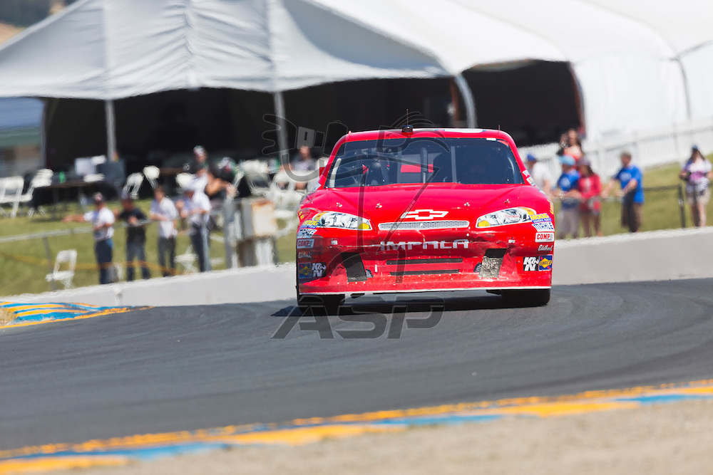 SONOMA, CA - JUN 24, 2012:  Kurt Busch (51) brings his car through the turns during the Toyota Save Mart 350 at the Raceway at Sonoma in Sonoma, CA.