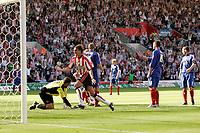 Photo: Jake Eastham.<br /> Southampton v Crewe. Coca Cola Championship.<br /> 27/08/2005.Darren Powell celebrates Southamptons second goal.