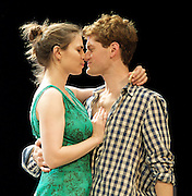 The Faith Machine<br /> by Alexi Kaye Campbell<br /> directed by Jamie Lloyd<br /> at the Royal Court Theatre, London, Great Britain <br /> press photocall<br /> 30th August 2011 <br /> <br /> Kyle Soller (as Tom)<br /> Hayley Atwell (as Sophie)<br /> <br /> Photograph by Elliott Franks