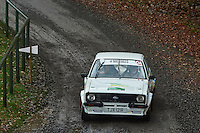 #53 Dave Roberts / Dave Owen Ford Escort MK2 Bolton-le-Moors during Neil Howard Memorial Stage Rally, and opening round of the 2015 Motorsport News Rally Championship.  at Oulton Park, Little Budworth, Cheshire, United Kingdom. November 07 2015. World Copyright Peter Taylor. Copy of publication required for printed pictures.  Every used picture is fee-liable. http://archive.petertaylor-photographic.co.uk