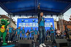 Jan Plestenjak during the Day for the medals: Reception of Slovenian sport heroes on 30.9.2019 on Kongresni square, Ljubljana, Slovenia. Photo by Urban Meglič / Sportida
