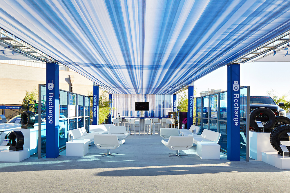 Toyo main, Toyo Treadpass, Toyo Grip Plaza, WARN immersion booths SEMA auto show Las Vegas, NV September 2013 Las Vegas Comvention Center