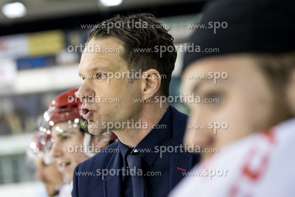 Gaber Glavic, head coach of Jesenice during ice hockey match between HK SZ Olimpija vs HDD SIJ Acroni Jesenice in Final of Slovenian League 2017/18, on April 10, 2018 in Hala Tivoli, Ljubljana, Slovenia. Photo by Matic Klansek Velej / Sportida