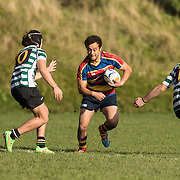 Rugby union game played between Tawa U21 and Old Boys University (Green) on 13 June 2105 at Newlands, Wellington, New Zealand.  Game won by OBU 29-11.