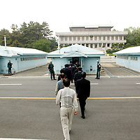 PANMUNJOM, MAY-16:  a South korean delegation enters the house that is shared by South and North Korea  in  the DMZ.
