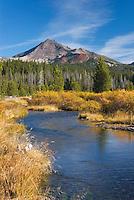 Soda Creek  and Broken Top volcano, Willamette National Forest Oregon