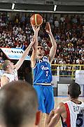 DESCRIZIONE : Cagliari Eurobasket Men 2009 Additional Qualifying Round Italia Francia<br /> GIOCATORE : Matteo Soragna<br /> SQUADRA : Italy Italia Nazionale Maschile<br /> EVENTO : Eurobasket Men 2009 Additional Qualifying Round <br /> GARA : Italia Francia Italy France<br /> DATA : 05/08/2009 <br /> CATEGORIA : tiro<br /> SPORT : Pallacanestro <br /> AUTORE : Agenzia Ciamillo-Castoria/C.De Massis