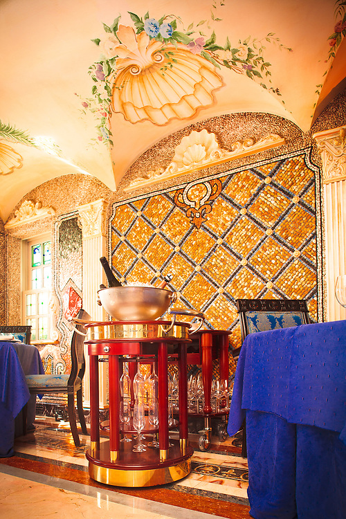 A section the splendid dining room in the former Gianni Versace mansion, now a hotel,  the Villa Casa Casuarina, on Miami Beach's Ocean Drive