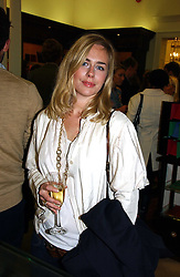 ALICE SHEFFIELD sister of Samantha Cameron at a party to celebrate the 10th anniversary of the Smythson Fashion Diary and to the launch of the 2007 Limited Edition held at Smythson, New Bond Street, London on 25th October 2006.<br />