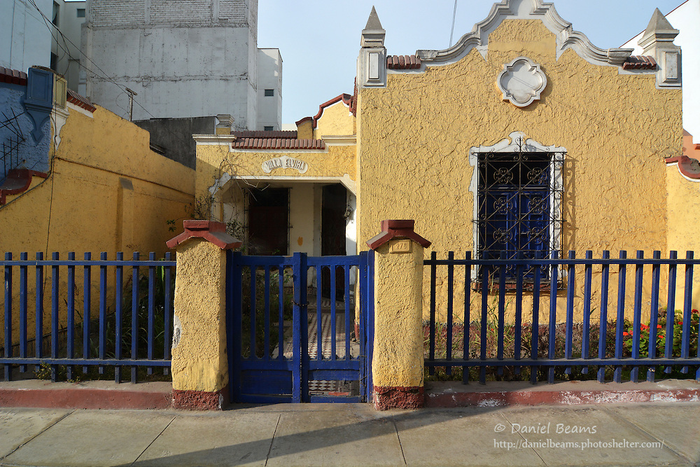 Old house in Mira Flores, Lima, Peru