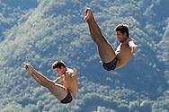 Team SWITZERLAND WERMELINGER Jan STEPINSKI Fabian<br /> Bolzano, Italy <br /> 22nd FINA Diving Grand Prix 2016 Trofeo Unipol<br /> Diving<br /> Men's 3m synchronised springboard final<br /> Day 03 17-07-2016<br /> Photo Giorgio Perottino/Deepbluemedia/Insidefoto