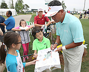PGA golfer K.J. Choi signs autographs for children at the Golf Club of Houston on Tuesday, March 29, 2016 in Humble, TX. (Photo: Thomas B. Shea/For the Chronicle)