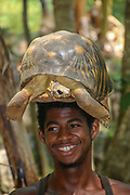 Africa, Madagascar, Portrait of young boy
