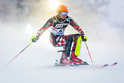 """Istok Rodes (CRO) during FIS Alpine Ski World Cup 2016/17 Men's Slalom race named """"Snow Queen Trophy 2017"""", on January 5, 2017 in Course Crveni Spust at Sljeme hill, Zagreb, Croatia. Photo by Ziga Zupan / Sportida"""