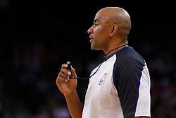 Feb 2, 2012; Oakland, CA, USA; NBA referee Kevin Cutler (34) during the first quarter between the Golden State Warriors and the Utah Jazz at Oracle Arena. Golden State defeated Utah 119-101. Mandatory Credit: Jason O. Watson-US PRESSWIRE
