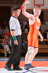 Brent Jones won the 197lb division by forfeit in the meet against UNC.  UVA outscored the Tar Heels 27-10.