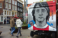 Street activity by the end of day in Amsterdam.