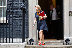 © Licensed to London News Pictures. 04/09/2018. London, UK. Chief Secretary to the Treasury Liz Truss leaves Downing Street after attending a Cabinet meeting this morning. Photo credit : Tom Nicholson/LNP