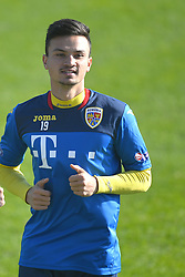 November 13, 2017 - Mogosoaia, Romania - Cristian Ganea of Romania Football Team during a training session at Mogosoaia, Romania on 13 November 2017. (Credit Image: © Alex Nicodim/NurPhoto via ZUMA Press)