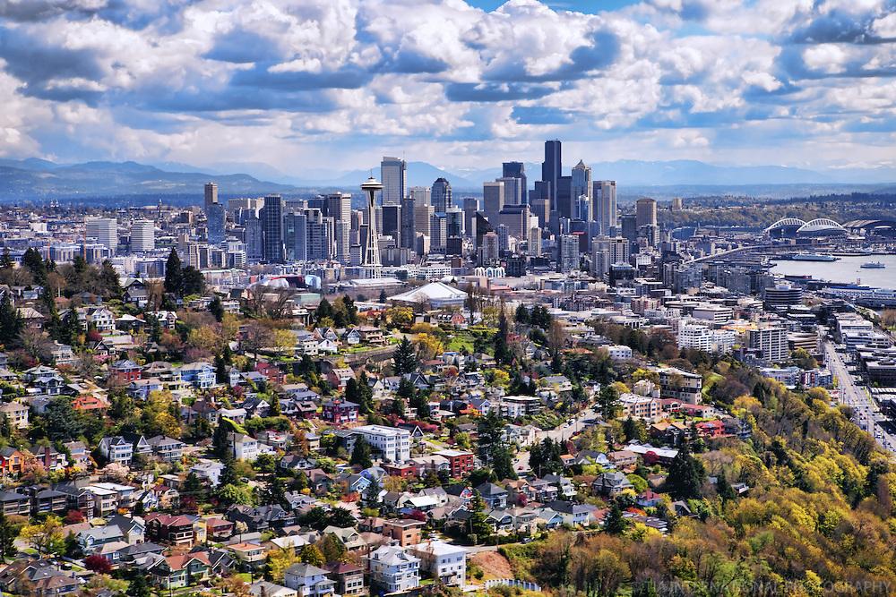 Queen Anne Hill & Seattle Skyline
