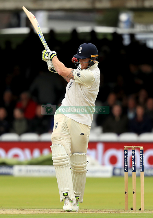 England's Ben Stokes bats during day two of the Third Investec Test match at Lord's, London.
