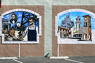 Murals in downtown Bakersfield, California  Photo by Dennis Brack
