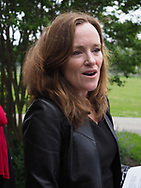 Hempstead, New York, USA. May 30, 2019. U.S. Representative Kathleen Rice (NY-04) holds a press conference to announce she's introducing Three Bills to Congress to Combat Impaired and Distracted Driving. Congresswoman Rice announced the package of 3 bills - End Drunk Driving Act, the Prevent Impaired Driving Child Endangerment Act, and the Distracted Driving Education Act of 2019 - at the Drunk Driving Victims Memorial in Eisenhower Park.