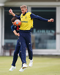 England's Stuart Broad during the nets session at Lord's, London.