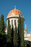 Shrine of the B?b, Haifa, Israel. This Shrine is, for Bahais, one of the most sacred spots on earth, second only to the Shrine of Bahaullah situated a few miles away, north of the city of Acre. Both Shrines are visited by thousands of pilgrims each year.