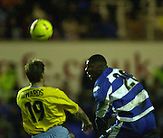 20/12/2003 - Photo  Peter Spurrier.2003_04_Nationwide_Div_1.Reading_FC_vs_Crystal_Palace_FC.Reading Town's Bas Savage direct the ball towards goal.