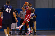 Maya Moore grabs a rebound during the 2012 USA Women's Basketball team practice at Bender Arena  in Washington, DC.  July 15, 2012  (Photo by Mark W. Sutton)