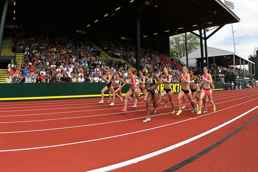 Olympic Trials Eugene 2012, women's 1500 meters