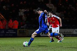 Rochdale's Ian Henderson scores his sides third goal from the penalty spot - Photo mandatory by-line: Matt McNulty/JMP - Mobile: 07966 386802 - 03/03/2015 - SPORT - football - Rochdale - Spotland Stadium - Rochdale v Crewe Alexandra - Sky Bet League One