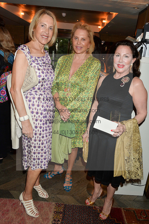 Left to right, LUCE CHURCHILL, EVA O'NEILL and ANNE PREVOST at the Cavan.com Pop-Up sale held at The Belgraves Hotel, 20 Chesham Place, London on 20th May 2014.