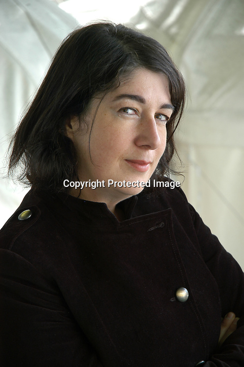 25 August 2005-Edinburgh,UK- British writer Joanna Harris, author of novels &quot;Chocolat&quot; (made into a movie starring Johnny Depp) and &quot;Gentlemen and Players&quot;<br />at the Edinburgh International Book Festival<br /><br />Copyright Pascal Saez<br />pascal_saez@hotmail.com
