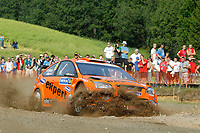 MOTORSPORT - WORLD RALLY CHAMPIONSHIP 2010 - NESTE OIL RALLY FINLAND / RALLYE DE FINLANDE - JYVASKYLA (FIN) - 29 TO 31/08/2010 - PHOTO : FRANCOIS BAUDIN / DPPI - <br /> HENNING SOLBERG / ILKA MINOR - STOBART M-SPORT FORD RALLY TEAM FORD FOCUS RS WRC - ACTION