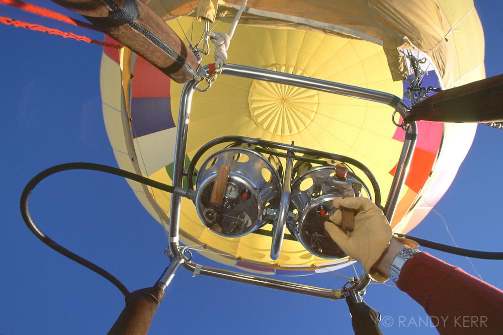 Burners on hot air balloon