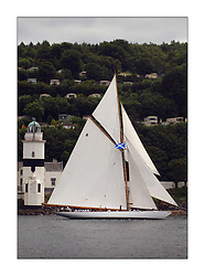 Moonbeam IV sailing past the Cloch Lighthouse...This the largest gathering of classic yachts designed by William Fife returned to their birth place on the Clyde to participate in the 2nd Fife Regatta. 22 Yachts from around the world participated in the event which honoured the skills of Yacht Designer Wm Fife, and his yard in Fairlie, Scotland...Marc Turner / PFM Pictures