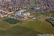 aerial photograph of theAbraham Guest Academy<br /> Greenhey Orrell Wigan, Lancashire WN5 0DQ