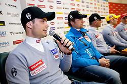 Miha Verdnik and Gregor Sparovec at press conference of Men Alpine Ski team and sponsor Petrol, on December 8, 2010 in Petrol, Ljubljana, Slovenia. (Photo By Vid Ponikvar / Sportida.com)