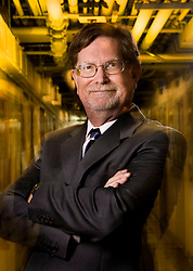 George Smoot of UC Berkeley  shared the Nobel Prize in Physics for his work on the Big Bang theory as an explanation for how the universe was formed. George Smoot works at  the Lawrence Berkeley National Laboratory .  Smoot's  newest project is a The Supernova/Acceleration Probe (SNAP) satellite observatory, that is capable of measuring thousands of distant supernovae.  Photo by Kim Kulish