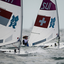 2012 Olympic Games London / Weymouth<br /> Racing day 1 Laser<br /> Laser RadialSUIBrugger Nathalie