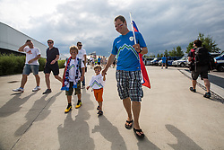 Slovenian fans before the EURO 2016 Qualifier Group E match between Slovenia and England at SRC Stozice on June 14, 2015 in Ljubljana, Slovenia. Photo by Grega Valancic
