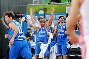 LUBIANA EUROBASKET 2013 14 SETTEMBRE 2013<br /> NAZIONALE ITALIANA MASCHILE<br /> CROAZIA VS ITALIA<br /> NELLA FOTO: GIUSEPPE POETA LUCA VITALI<br /> FOTO CIAMILLO