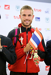 BANGKOK, THAILAND - Monday, July 13, 2015: Liverpool's new captain Jordan Henderson at Bangkok's Suvarnabhumi Airport as the team arrive in Thailand for the start of the club's preseason tour. (Pic by David Rawcliffe/Propaganda)