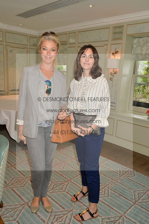 Left to right, TAMARA BECKWITH and TANIA FARES at a breakfast hosted by Halcyon Days at Fortnum & Mason, 181 Piccadilly, London on 8th July 2014.